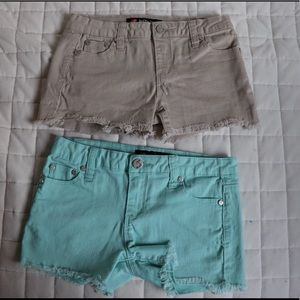 Two pairs of Tillys shorts size 12 junior